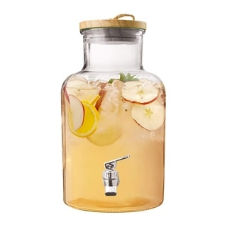 Style Setter Ford Glass Beverage Dispenser Cold Drink Wine Juice Great for Parties, Entertainment, Weddings and More