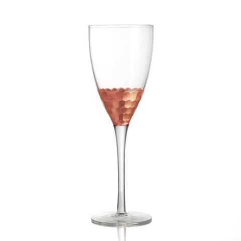 Fitz & Floyd Daphne Copper Wine Glasses Set of 4
