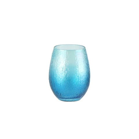 Style Setter Ice Blue Stemless Wine Glasses Set of 4