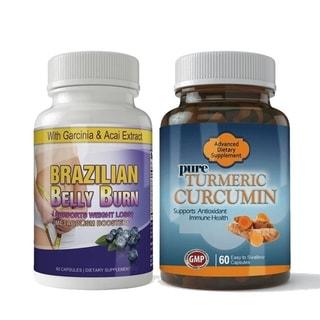 Brazilian Belly Burn and Turmeric Curcumin Combo Pack