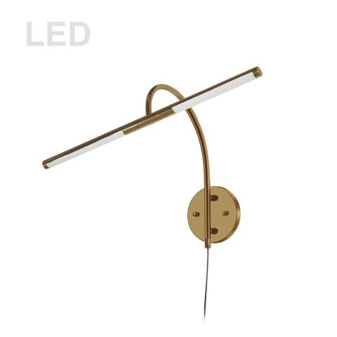 6W Picture Light Aged Brass
