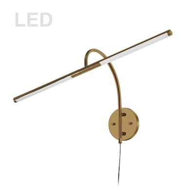 10W Picture Light Aged Brass