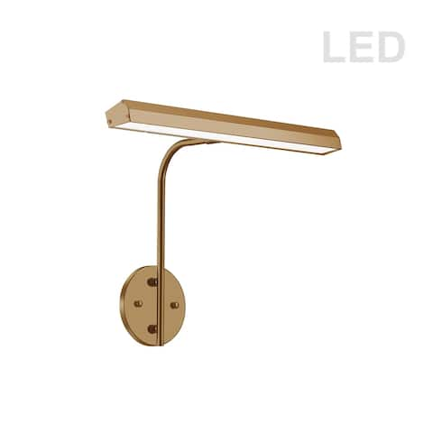 24W Picture Light Aged Brass