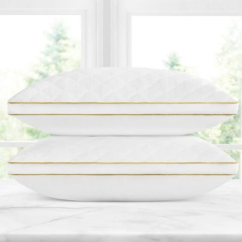 Italian Collection 2-Pack Quilted Gel Fiber Pillow