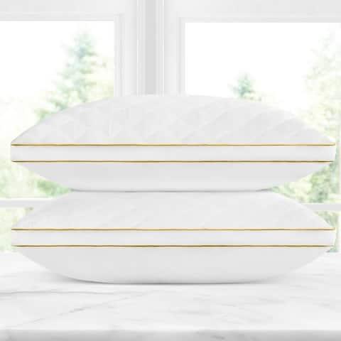 Gracewood Hollow Vegad Quilted Gel Fiber Pillow (Set of 2)
