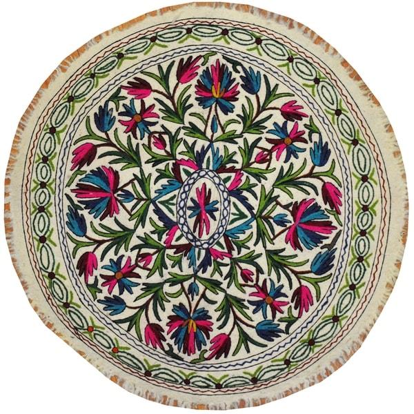 Handmade One-of-a-Kind Suzani Namad (Uzbekistan)