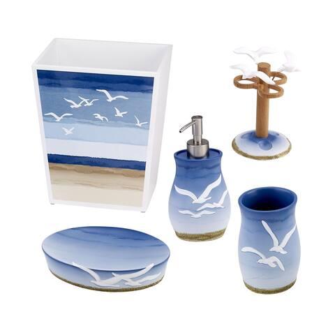 Seagulls 5 Piece Bath Accessory Set