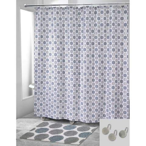 Dotted Circles 14 Piece Bath Accessory Set