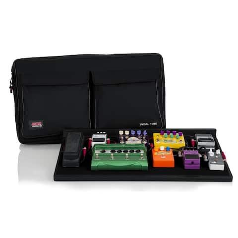 "Gator Plywood Pedal Board with Black Nylon Carry Bag, Shoulder Strap, External Pocket. 30"" x 16"" Pedal Board, GPT-PRO"