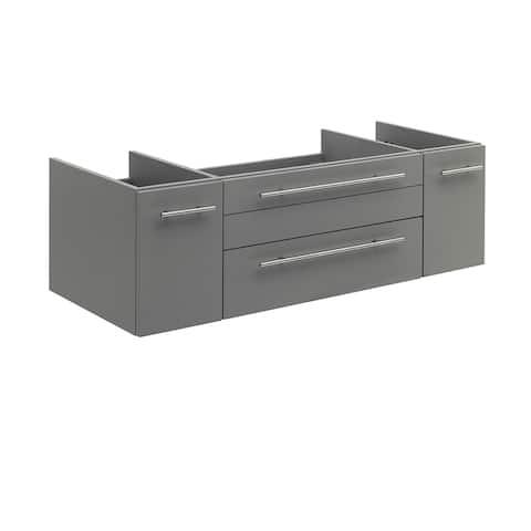 """Fresca Lucera 48"""" Gray Wall Hung Undermount Sink Modern Bathroom Cabinet"""