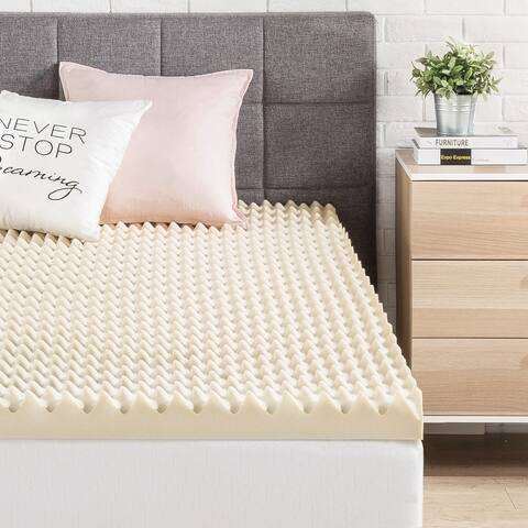 3 Inch Egg Crate Memory Foam Bed Topper with Copper Infused - Crown Comfort