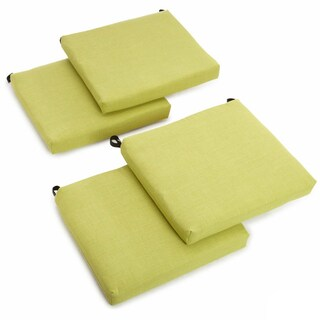 Blazing Needles 20-inch All-Weather Indoor/Outdoor Chair Cushion in Cinnamon (Set of 4) (As Is Item)