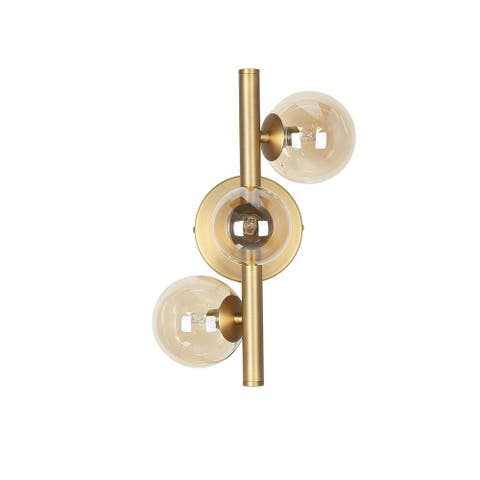 3LT Halogen Wall Sconce Vint Bronze / Champ Glass