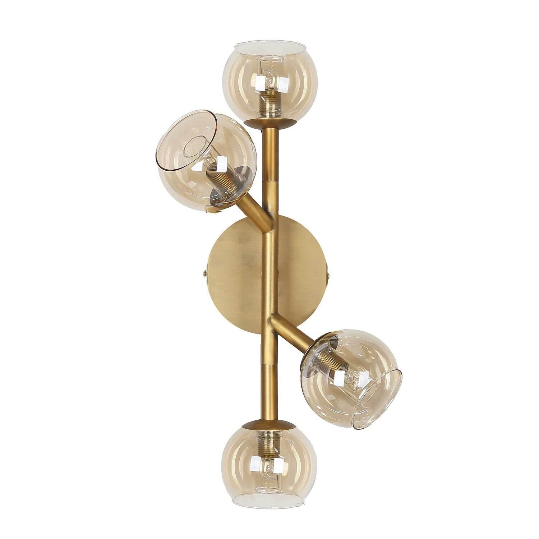 Shop 4lt Halogen Wall Sconce V Bronze Champagne Glass Overstock 28377494