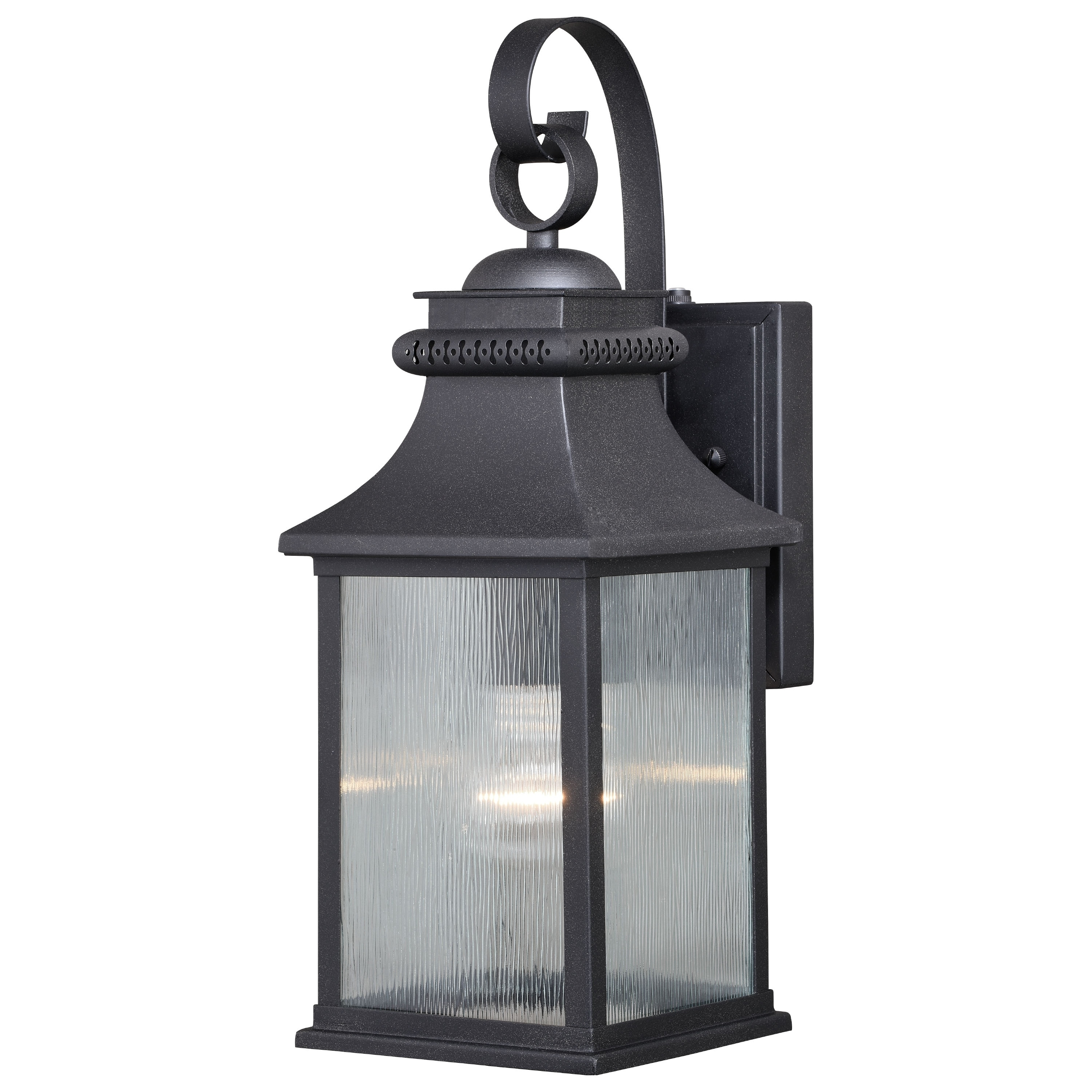 Cambridge 1 Light Dusk To Dawn Bronze Outdoor Wall Lantern Clear Glass 6 In W X 16 25 In H X 7 25 In D Overstock 28377788