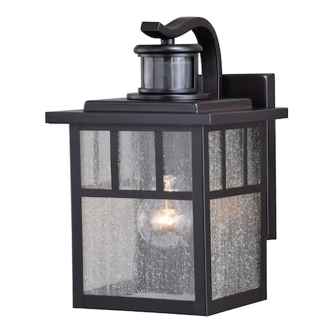 Mission Bronze Motion Sensor Dusk to Dawn Outdoor Mission Wall Light - 7-in W x 11.25-in H x 8.25-in D