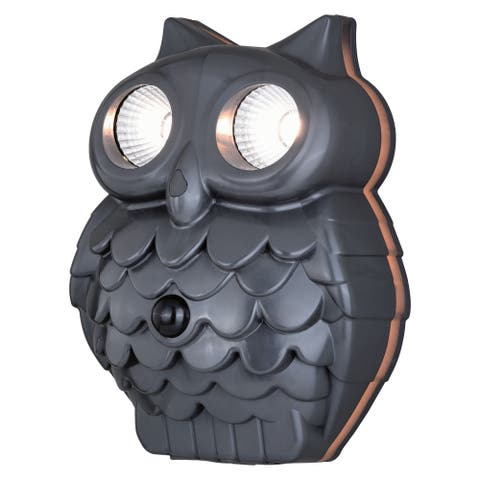 Athene Owl LED Motion Sensor Dusk to Dawn Outdoor Wall Light - 7.25-in W x 9.5-in H x 4.5-in D