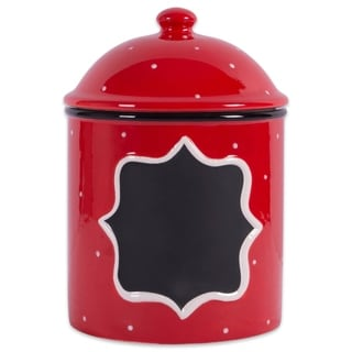 DII Ceramic Red Canister