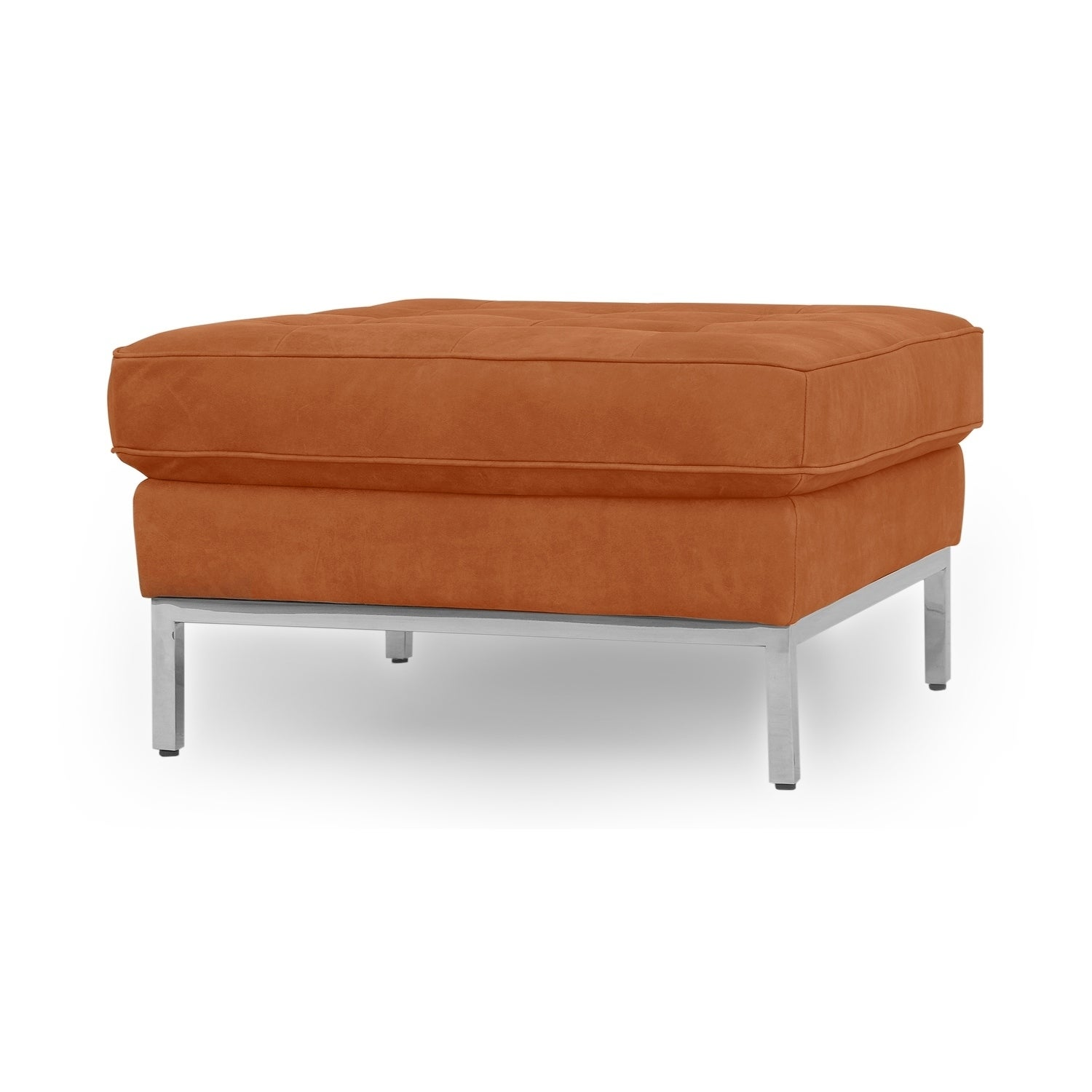Picture of: Shop Florence Mid Century Modern Ottoman Full Grain Aniline Overstock 28377933 Width 28 X Depth 28 X Height 16 Leather Night