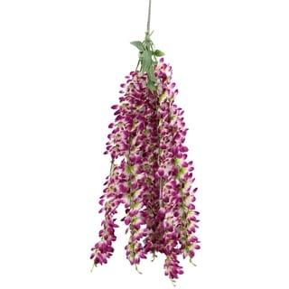 Artificial 5 stem wisteria long hanging bush Flowers. - AME.BT