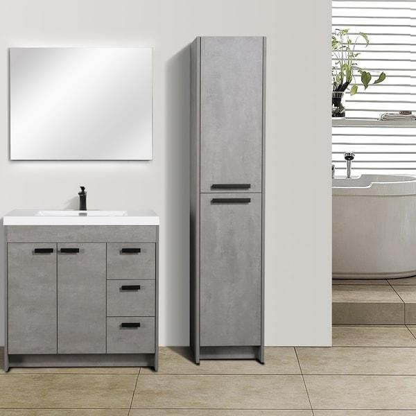 "Eviva Lugano 36"" Cement Grey Modern Vanity"