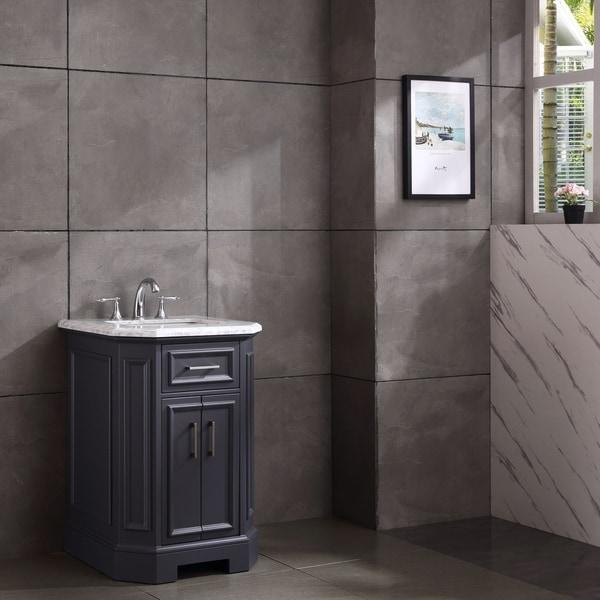 "Eviva Glory 24"" Dark Grey Bathroom Vanity"