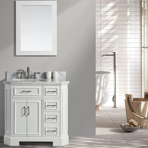 "Eviva Glory 36"" White Bathroom Vanity"