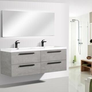 "Eviva Surf 57"" Cement Grey Bathroom Vanity"
