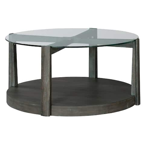 Round Solid Wood Coffee Table - Edgewater