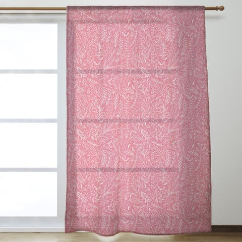 Classic Ditsy Floral Pattern Sheer Curtains - 53 x 84 - 53 x 84