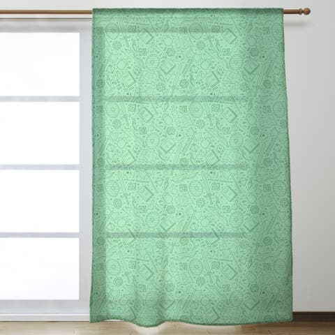 Full Color RPG Pattern Sheer Curtains - 53 x 84