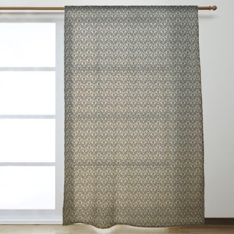 Classic Art Deco Sheer Curtains - 53 x 84 - 53 x 84