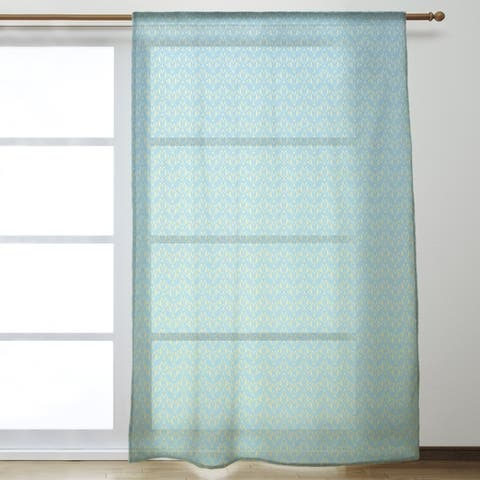 Classic Art Deco Sheer Curtains - 53 x 84 - 53 x 84