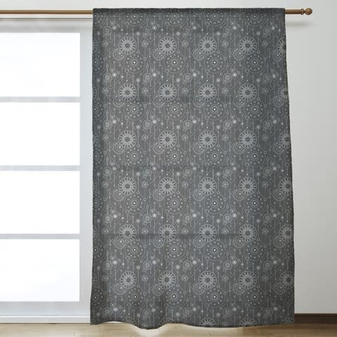 Astrology Pattern Sheer Curtains - 53 x 84 - 53 x 84