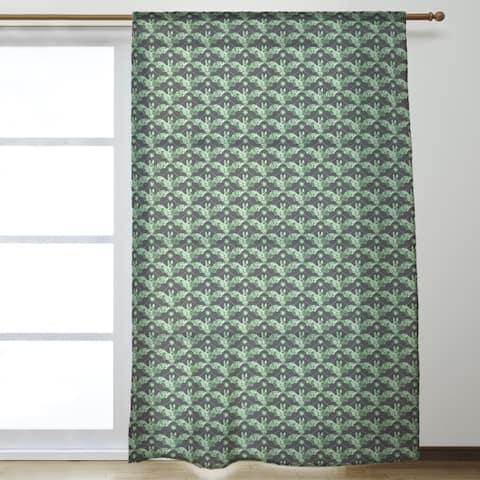Floral Bats Sheer Curtains - 53 x 84 - 53 x 84