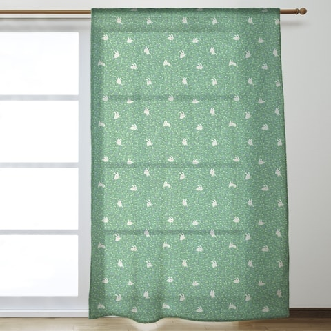 Bunny Rabbit Pattern Sheer Curtains - 53 x 84