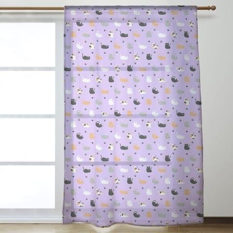 Cat Pattern Sheer Curtains - 53 x 84 - 53 x 84