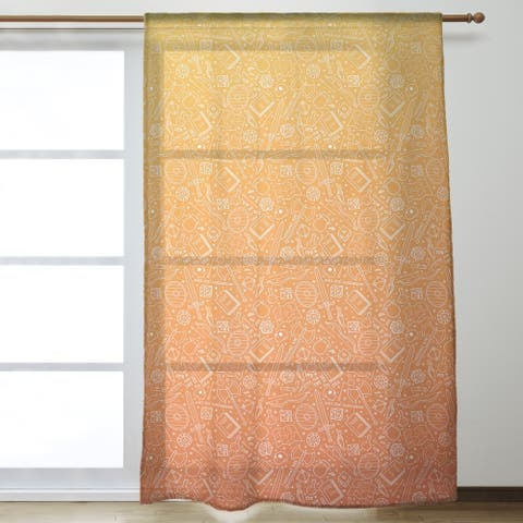 Ombre RPG Pattern Sheer Curtains - 53 x 84 - 53 x 84