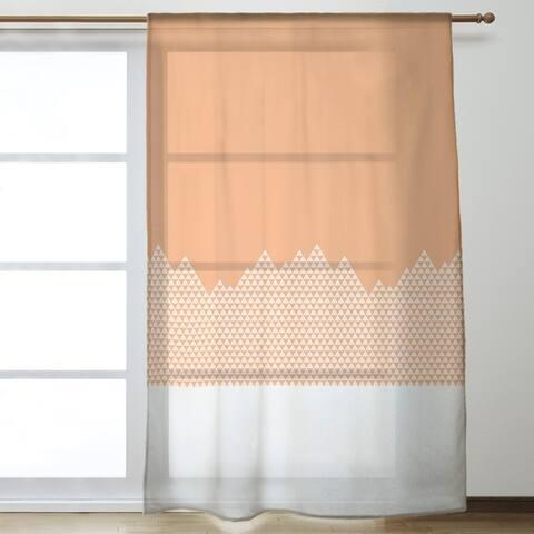 Mountain Pattern Sheer Curtains - 53 x 84 - 53 x 84