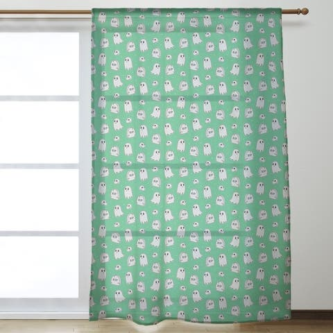 Classic Ghosts Pattern Sheer Curtains - 53 x 84 - 53 x 84