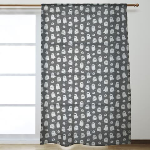 Classic Ghosts Pattern Sheer Curtains - 53 x 84