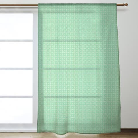 Classic Doily Pattern Sheer Curtains - 53 x 84