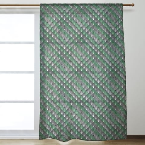 Geometric Ombre Stripe Pattern Sheer Curtains - 53 x 84