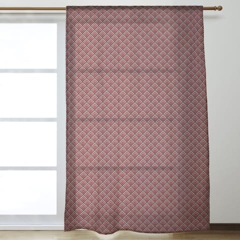 Reverse Geometric Ombre Pattern Sheer Curtains - 53 x 84
