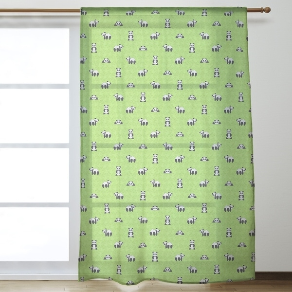 Panda Pattern Sheer Curtains - 53 x 84 - 53 x 84. Opens flyout.