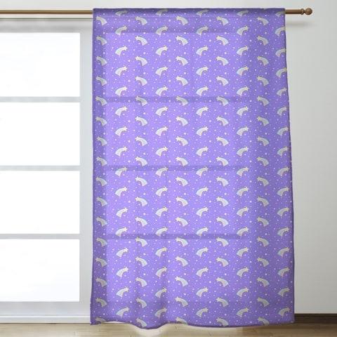 Shooting Stars Pattern Sheer Curtains - 53 x 84 - 53 x 84