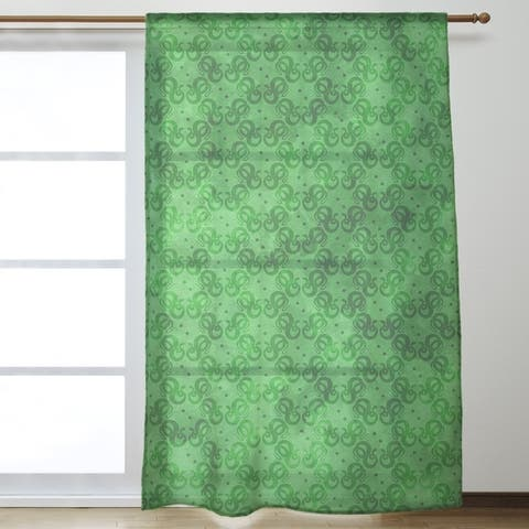 Snakes Pattern Sheer Curtains - 53 x 84 - 53 x 84