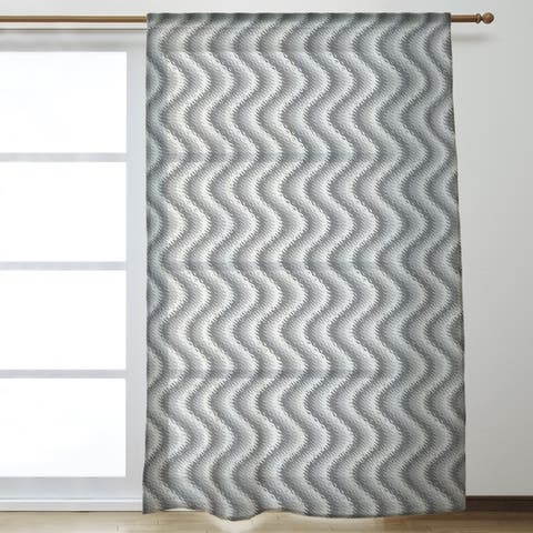 Wavy Stripes Sheer Curtains - 53 x 84 - 53 x 84