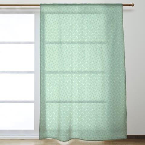 Classic Hexagonal Lattice Sheer Curtains - 53 x 84