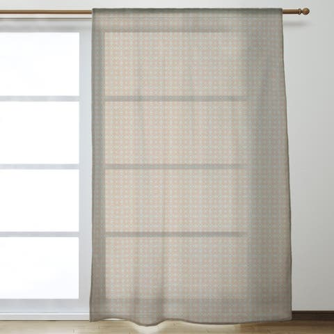 Two Color Doily Pattern Sheer Curtains - 53 x 84 - 53 x 84